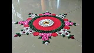 Creative Rangoli Design For Sankranti| Pongal Rangoli by Shital Mahajan