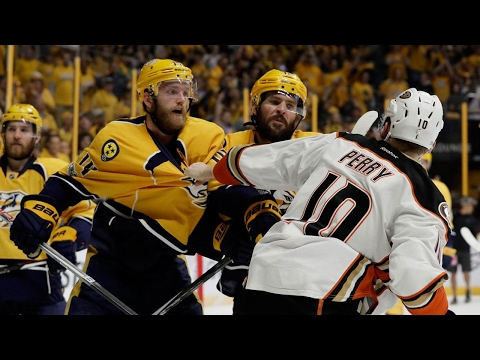 Ducks top Predators in OT after blowing lead to even series