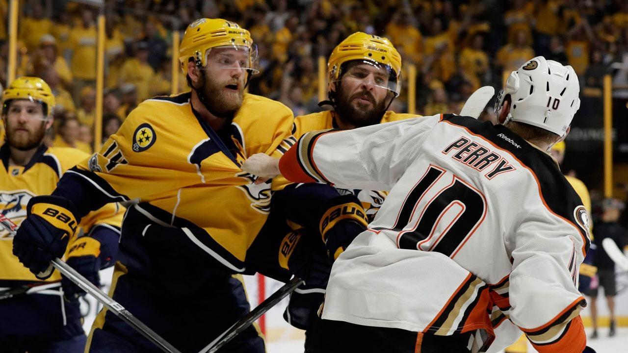 Ducks even series vs Predators with overtime win