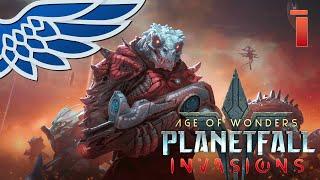 Planetfall Invasions   Shakarn Go! - Age of Wonders Planetfall Invasions Let's Try Gameplay