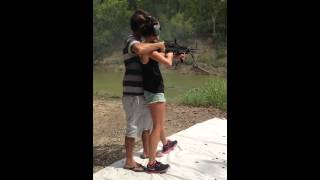 M60E4 Full Auto - My fiance Allison shooting my RIA M60E4