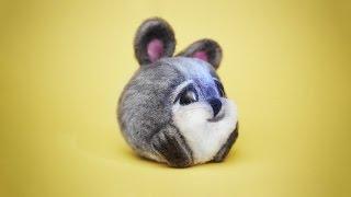 Как сделать шерстяного кролика. Пошаговый мастер-класс по сухому валянию из шерсти, для начинающих.