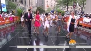 Erica Hill and Dylan Dreyer - fun salsa dancing in high heels - September 6, 2014