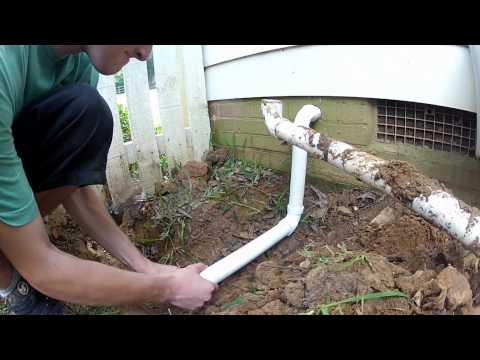 How To Plumbing The Sump Pump Discharge Out Of The Crawl