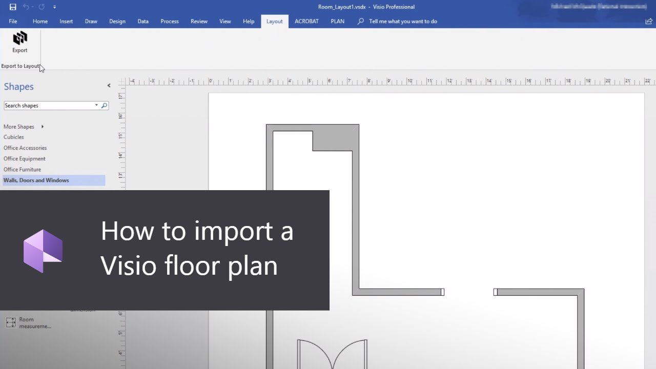 How to import a Visio floor plan | Dynamics 365 Layout for HoloLens
