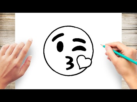 How To Draw Kissing Emoji Step By Step