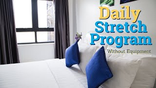 5 Minute Full Body Daily Stretch (In Bed) Without Equipment