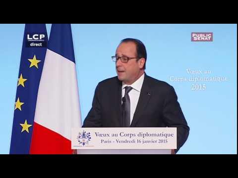 Voeux de Francois Hollande au Corps Diplomatique