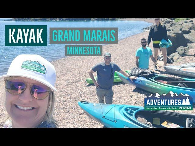 Kayaking   Grand Marais Harbor Minnesota