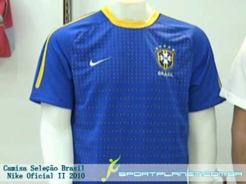Camisa Seleção Brasil Nike Oficial II 2010 Azul  15c8ca826434c