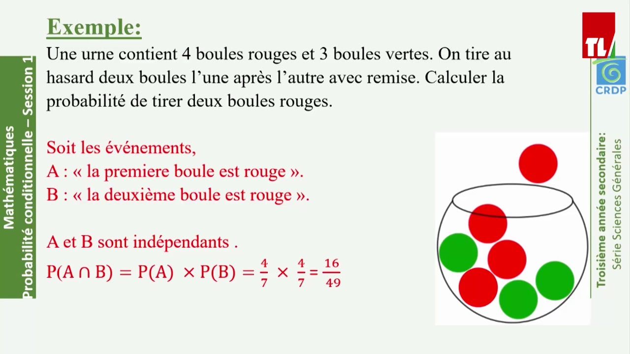 Download Tele Liban - E-learning - Maths -  Probabilite conditionnelle (1)