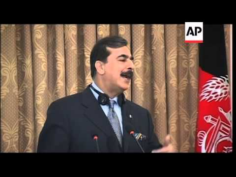 WRAP Pakistan PM Gilani arrives in Kabul, meets Karzai
