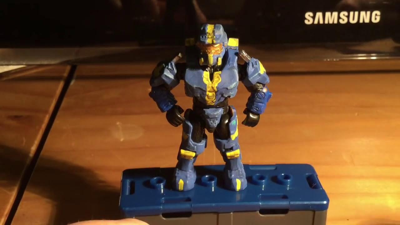 Halo Megabloks Custom Figure + Weapons