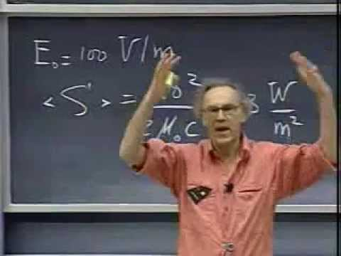 Lec 28: Index of Refraction and Poynting Vector | 8.02 Electricity and Magnetism (Walter Lewin)