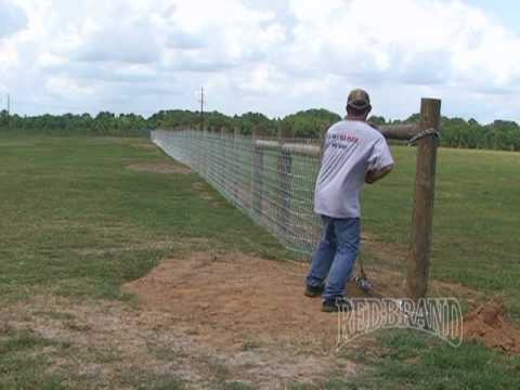 V mesh horse fence installation part 1 of 2 youtube for Fence installation tips
