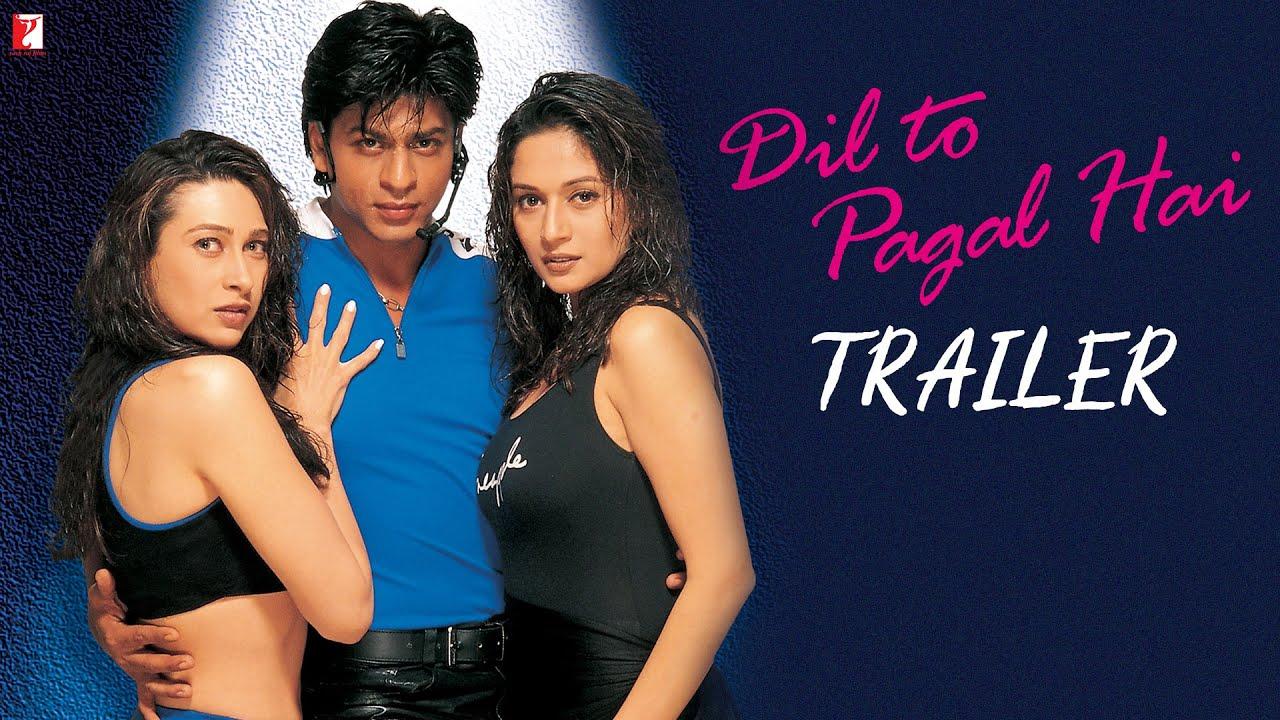 Dil To Pagal Hai Official Trailer Shah Rukh Khan Madhuri Dixit