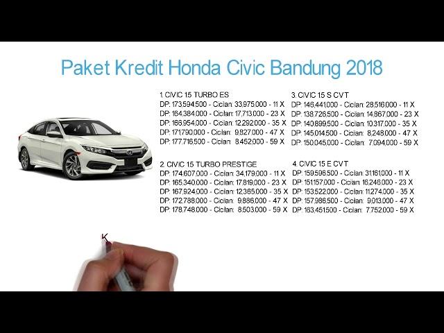 Kredit Honda Civic Bandung DP & Cicilan Oktober 2018 | Info: 082221011136