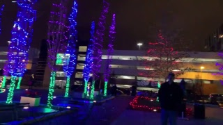 Check out the Columbus commons Christmas Lights Display