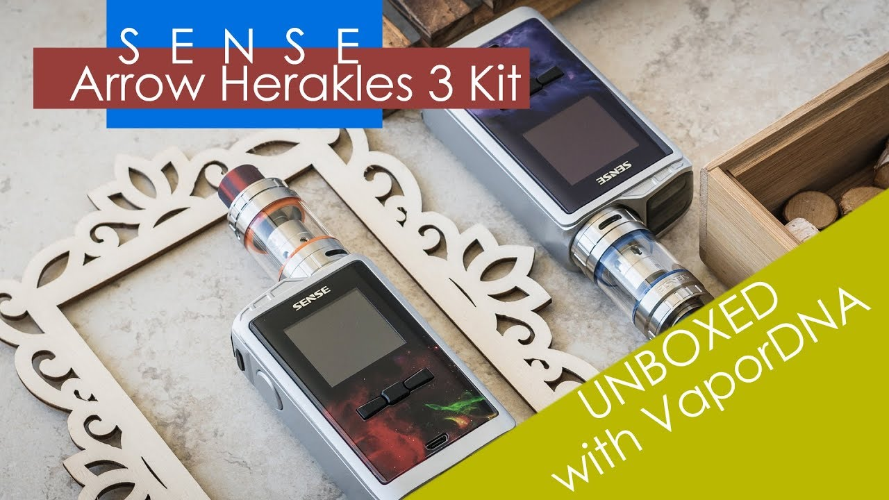 VaporDNA UNBOXED - with The Sense Linked Vape Arrow Herakles 3 Kit