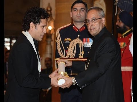 Bharat Ratna Award Ceremony -- Sachin Tendulkar conferred