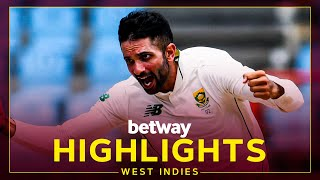 Highlights   West Indies vs South Africa   Maharaj Takes Hat-Trick   2nd Betway Test Day 4 2021