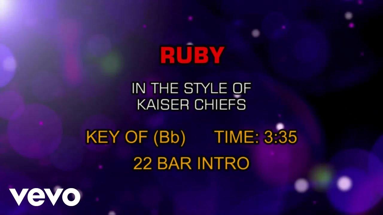 Kaiser Chiefs Ruby Karaoke Youtube