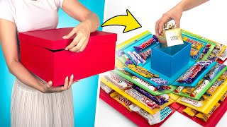 Making Folding Surprise Box With Sweets
