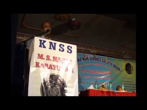 Hari Kumar talking at NSS Family Get together in Bangalore
