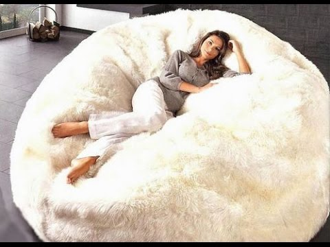 extra large bean bag Extra Large Bean Bag Chairs for Adults   YouTube extra large bean bag