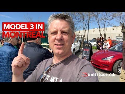 Model 3 arrives in Montreal
