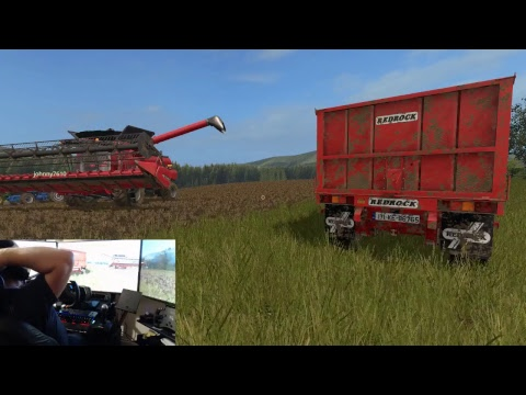 farming simulator 17 lets play drumard farm sever  with dad Only