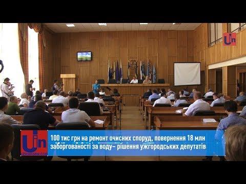 Повернення 18 млн заборгованості за воду – рішення ужгородських депутатів