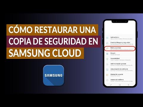 Cómo Hacer y Restaurar una Copia de Seguridad en Samsung Cloud