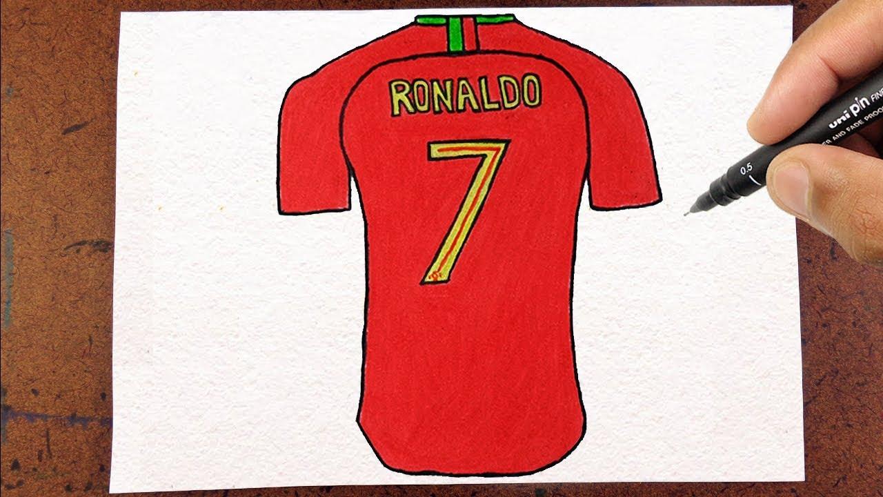 Desenho De Camisa: Como Desenhar A Camisa 7 Cristiano Ronaldo Seleção