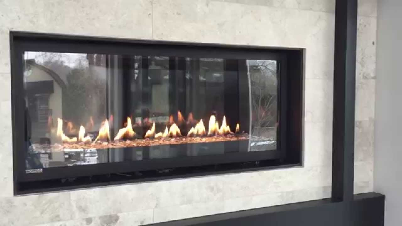 A linear fireplace with all the bells and whistles. This is a very affordable