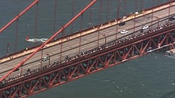 Thousands march on the Golden Gate Bridge as part of George Floyd protests