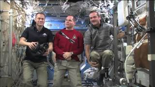 "ISS Trio in CNN's ""Newsroom"""