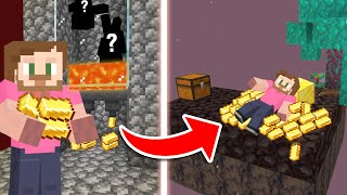 Building A GOLD Farm In Minecraft Skyblock 1.16