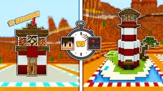 Minecraft: 10 Second vs 10 Minute LIGHTHOUSE w/ Graser!