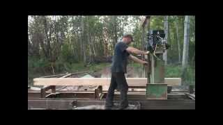 Diy Bandsaw Mill,cutting Some Lumber With My Bandsaw Mill