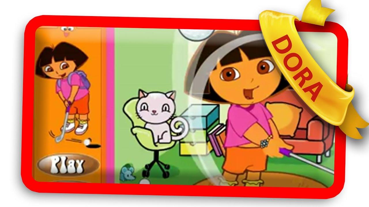Dora Golf At Home Online Dora Games Youtube