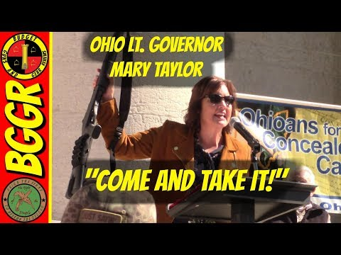 Ohio Lt. Governor Mary Taylor's Pro Gun Speech at the Rally For Our Rights