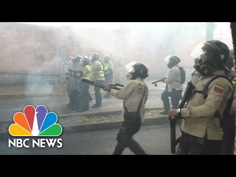 Clash With Police In Caracas May Day Violence | NBC News