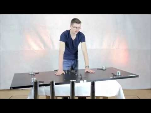 hidden tv diy gaming tisch selber bauen. Black Bedroom Furniture Sets. Home Design Ideas
