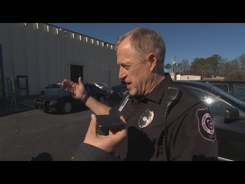Officers Block CBS46 From Cobb County School District Headquarters