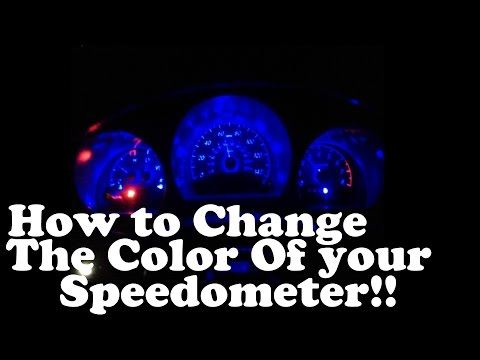 How Change The Color Of Your Speedometer!!