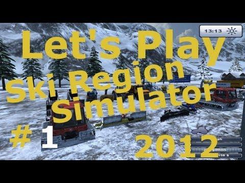 Let's Play #1 Ski Region Simulator - Gameplay