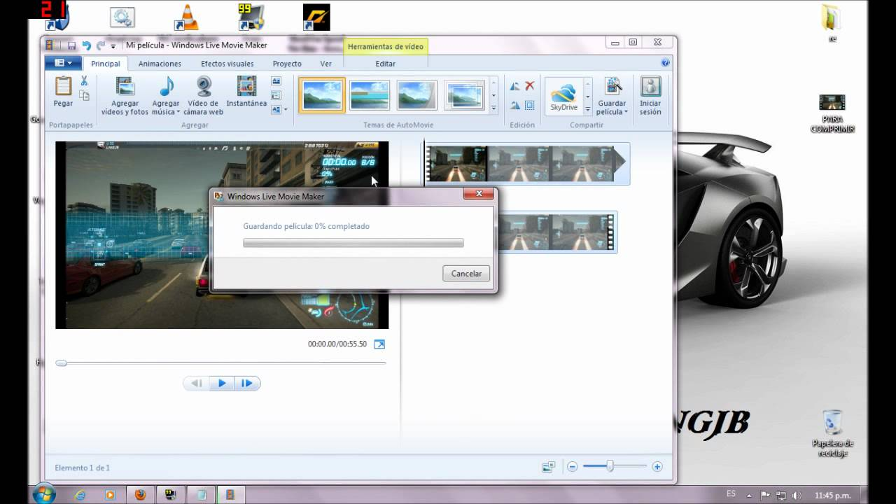 Como bajar el peso de un video con movie maker