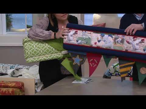 Deco Wrap No Sew Set Of 2 Window Treatment Kit On QVC