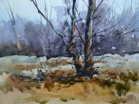Painting Trees in Watercolour: One of the resources for watercolour painters at http://www.grahamebooth.com. Grahame shows how to paint trees and how to differentiate between foreground and background.